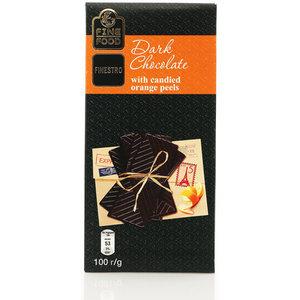 Горький шоколад с цукатами апельсина ТМ Fine food Finestro (Файн фуд Финестро)