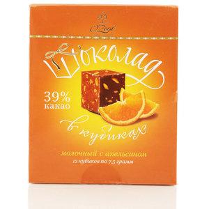 Шоколад молочный в кубиках с апельсином ТМ O'Zera (О'Зера)