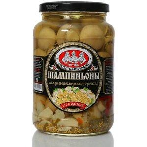 Шампиньоны маринованные грибы отборные ТМ Скатерть-Самобранка