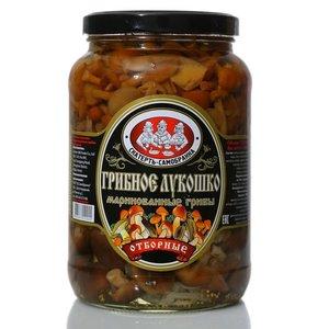 Грибное лукошко маринованные грибы отборные ТМ Скатерть-Самобранка