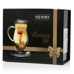 Чай зеленый натуральный распускающийся подарочный набор с чашкой ТМ Newby (Ньюби)