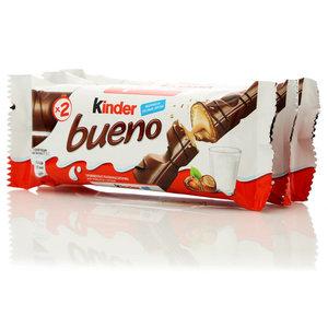 Вафли Kinder Bueno с молочно-ореховой начинкой 3*2шт ТМ Kinder (Киндер)