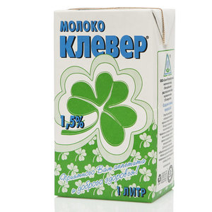 Молоко ультрапастеризованное 1,5% ТМ Клевер