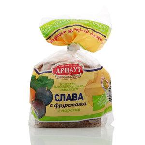 Изделия хлебобулочные заварные Слава с фруктами в нарезке ТМ Арнаут