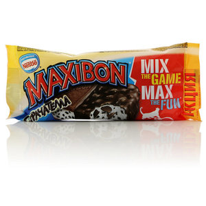 Ванильное мороженое в шоколадной глазури Maxibon (Максибон) Страчателла ТМ Nestle (Нестле)