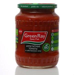 Томаты неочищенные в томатном соке, пастеризованные ТМ  Green Ray (Грин Рэй)