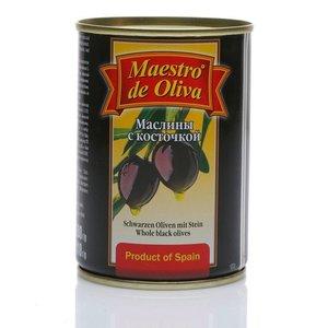 Маслины с косточкой ТМ Maestro de Oliva (Маэстро де Олива)