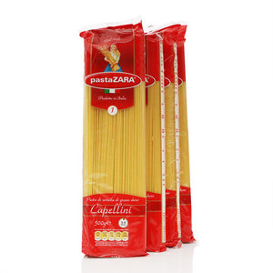 Макароны Capellini (Капеллини) ТМ Pasta Zara (Паста Зара), 4*500г