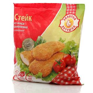 Стейк из мяса цыпленка в панировке ТМ Золотой петушок