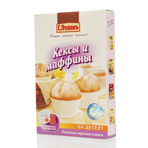 Готовая смесь Кексы и маффины ТМ С.Пудовъ