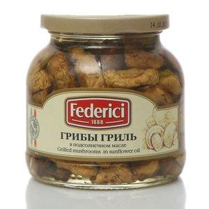 Грибы гриль в подсолнечном масле консервированные ТМ Federici (Федеричи)