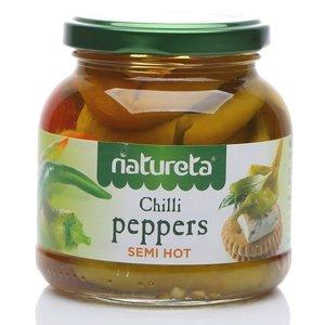Пастеризованные овощные консервы Перец пепперони острый TM Natureta (Натурета)