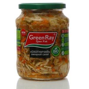 Салат овощной охотничий пастеризованный ТМ Green Ray (Грин Рэй)