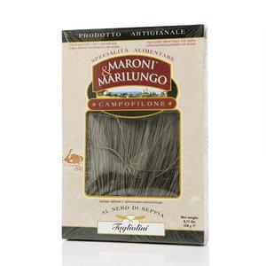 Макароны Лапша черная с чернилами каракатицы ТМ Maroni & Marilungo (Марони & Марилунго)