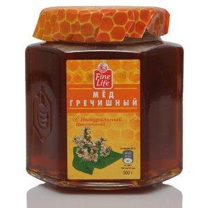 Мед натуральный цветочный гречишный ТМ Fine Life (Файн Лайф)