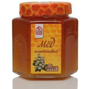 Мед натуральный цветочный каштановый ТМ Fine Food (Файн Фуд)