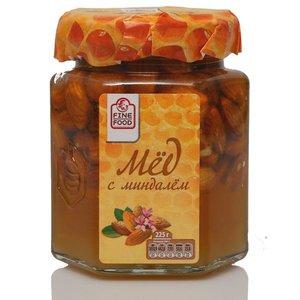 Мед натуральный цветочный с миндалем ТМ Fine Food (Файн Фуд)