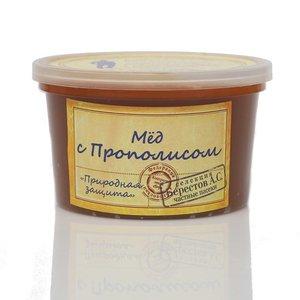 Мед натуральный цветочный с прополисом Природная защита ТМ Берестов А.С.