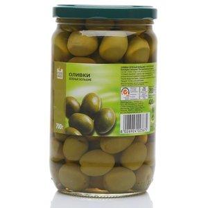 Оливки зеленые большие с косточками ТМ Fine Food (Файн Фуд)
