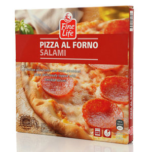 PIZZA AL FORNO SALAMI (Пицца Салями, замороженная) ТМ Fine Life (Файн Лайф)