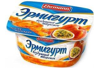 Творожок персик- маракуйя 5% ТМ Эрмигурт