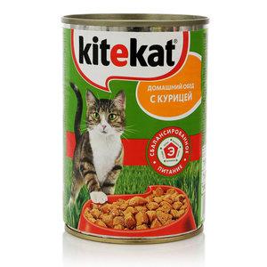 Корм для взрослых кошек домашний обед с курицей ТМ Kitekat (Китекат)