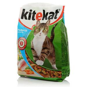 Корм сухой полнорациональнный для взрослых кошек Рыбное ассорти, сбалансированное питание ТМ Kitekat (Китекат)