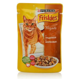 Корм полнорациональный для взрослых кошек С индейкой и морковью в подливе Purina ТМ Friskies (Фрискис)
