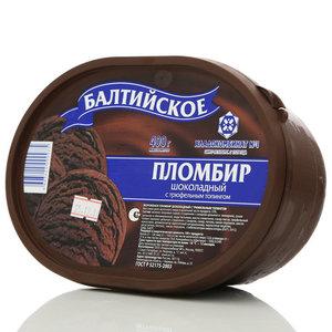 Мороженое пломбир шоколадный с трюфельным топингом 15% Балтийское ТМ Хладокомбинат №1