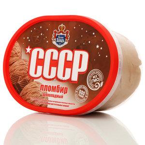 Мороженое пломбир шоколадный ТМ СССР 15%