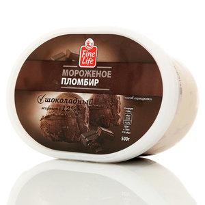 Мороженое пломбир шоколадный ТМ Fine Life (Файн Лайф) 12%