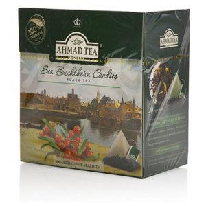 Чай черный байховый в пирамидках с ароматом облепихи Sea Buckthorn Candies (Сиа Баксорн Кандис) ТМ Ahmad Tea (Ахмад Тиа)
