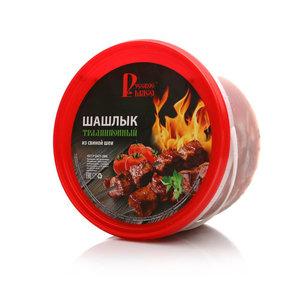 Шашлык из свиной шеи Традиционный охлаждённый ТМ Русское Мясо