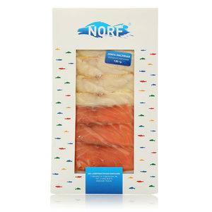 Ассорти семга-масляная холодного копчения ТМ Norf (Норф)