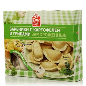 Вареники с картофелем и грибами ТМ Fine Life (Файн Лайф)
