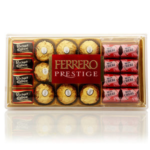 Конфеты ассорти Ferrero Prestige (Pocket Coffe, Ferrero Rocher, Mon Cheri) ТМ Ferrero Rocher (Ферреро Роше)