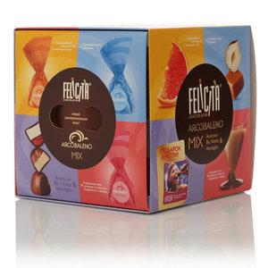 Конфеты с шоколадной и молочной шоколадной глазурью с молочно-сбивными и желейно-сбивными корпусами Felicita ТМ Arcobaleno (Аркобалено)