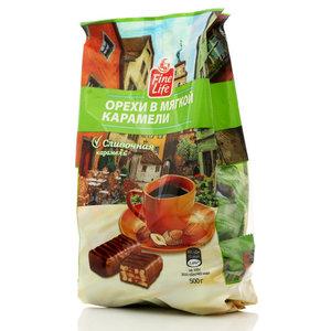 Конфеты глазированные Орехи в мягкой карамели и молочной шоколадной глазури ТМ Fine Life (Файн Лайф)