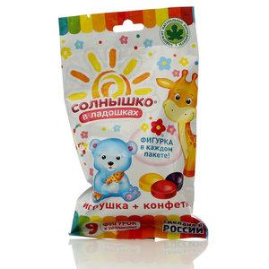 Карамель Фруктовая с игрушкой Солнышко в ладошках ТМ Сладкая сказка