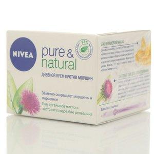 Дневной крем против морщин pure & natural ТМ Nivea (Нивея)