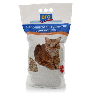 Древесный гигиенический наполнитель туалетов для кошек ТМ Aro (Аро)