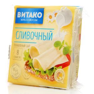 Сыр плавленый сливочный ломтики ТМ Витако 50%