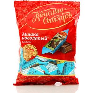 Конфеты глазированные шоколадной глазурью с начинкой Мишка косолапый ТМ Красный Октябрь
