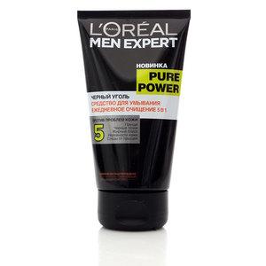 Средство для умывания черный уголь  ТМ Loreal Paris Men Expert (Лореаль Париж мэн эксперт)