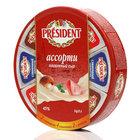 Сыр плавленый ассорти: сливочный, с ветчиной, с грибами ТМ President (Президент)