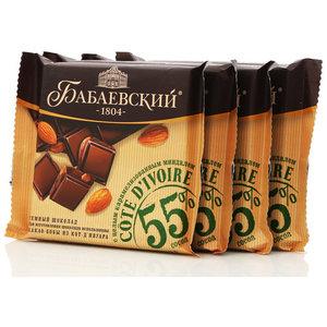 Шоколад темный Cote d Ivoire с целым карамелизованным миндалем 4*90г ТМ Бабаевский