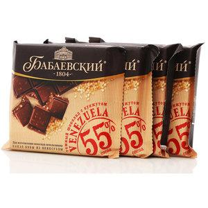 Шоколад темный Venezuela с кунжутом 4*90г ТМ Бабаевский