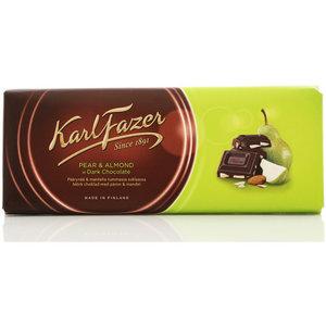 Темный шоколад с миндалем и грушей KarlFazer (КарлФацер)