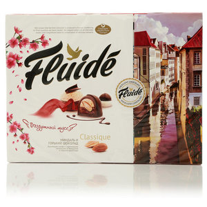 Набор конфет с миндалем в горьком шоколаде ТМ Fluide classique (Флюид классикью)