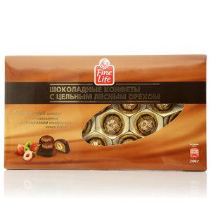 Шоколадные конфеты из молочного шоколада с цельным лесным орехом ТМ Fine Life (Файн Лайф)